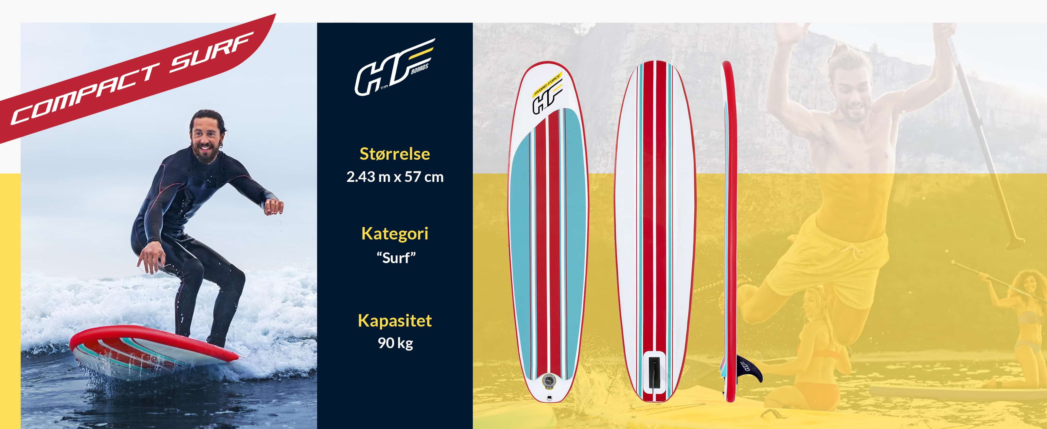 Compact Surf Paddleboard Sup Brett