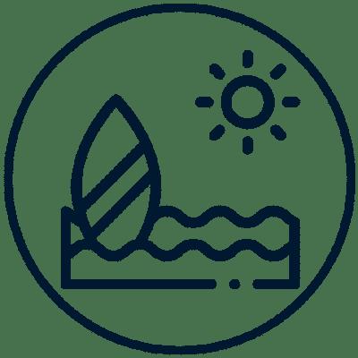 Paddleboard Surf Icon